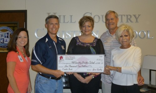 $5,002.50 Donated to Hill Country Christian School on behalf of the Denny Family