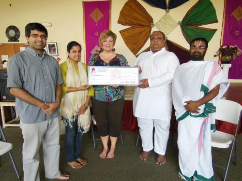 $2,362.50 Donated to Austin Hindu Temple on behalf of Varsha Raj and Pradeep Ravikumar