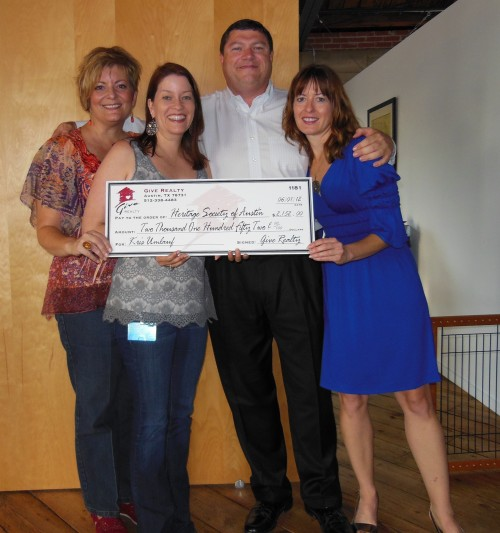 $2,152.50 Donated to Heritage Society of Austin on behalf of Kris Umlauf