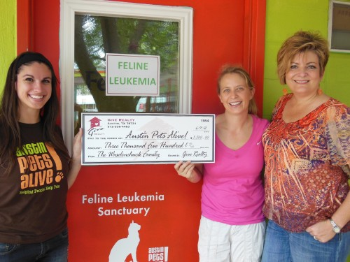 $4,650.00 Donated to Austin Pets Alive! and I Once Was Lost on behalf of the Waselenchuck Family