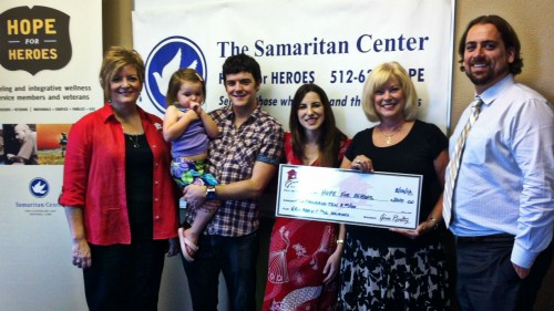 $2,010.00 Donated to Samaritan Center – Hope for Heroes on Behalf of Martin & Simmons family