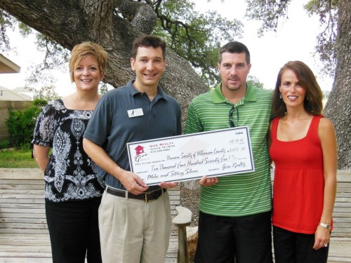 $2,475.00 Donated to the Humane Society of Williamson County on Behalf of Mike & Stacy Shaw