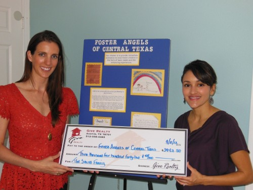 $3,442.50 Donated to Foster Angels of Central Texas on Behalf of the Smith Family