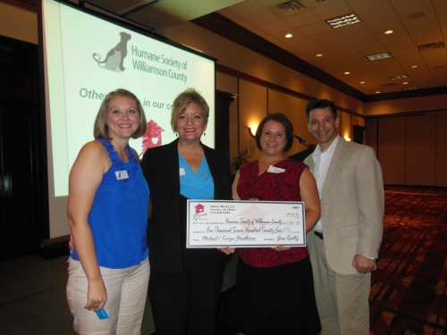 $1,724.25 Donated to the Humane Society of Williamson County on Behalf of Michael & Keryn Hawthorne