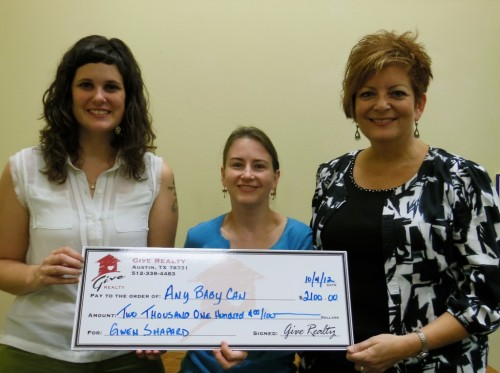 $2,100.00 Donated to Any Baby Can Candlelighter's & CARE programs on Behalf of Gwen Shapard