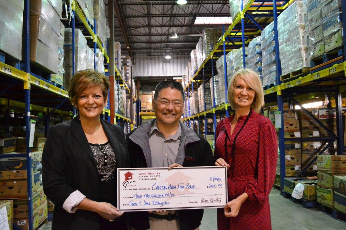 $2,000.00 Donated to the Capital Area Food Bank on Behalf of Thom and Joan Kobayashi