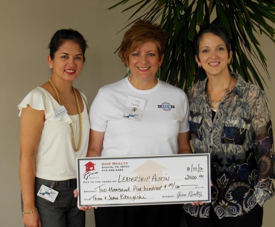 $2,500.00 Donated to Leadership Austin on Behalf of Thom and Joan Kobayashi