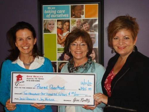 $2,415.00 Donated to Planned Parenthood on Behalf of Julie Rennecker & Jim Parker