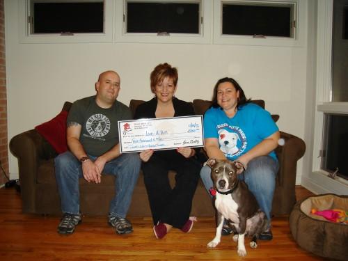 $5,000.00 Donated to Love-A-Bull on Behalf of David Wells & Meghan Turner